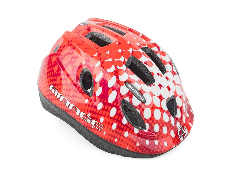 Шлем детский AUTHOR Mirage 168, светодиодный фонарь, 12 отверстий, красный, 48-54см, 8-9089983, фото 1