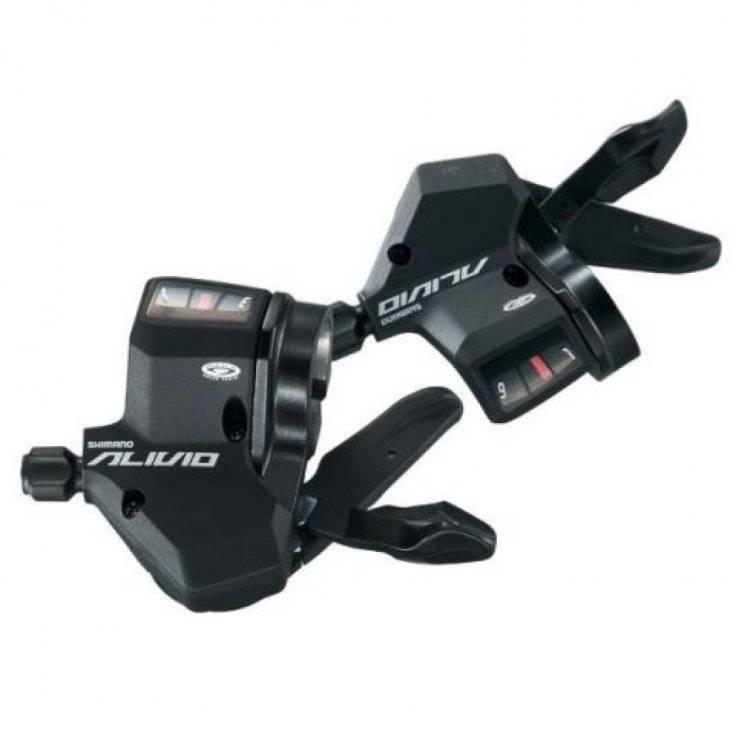 Переключатели для велосипеда Shimano Alivio Rapidfire Plus 3х9ск трос+рубашки ESLM430PTA 2-2050