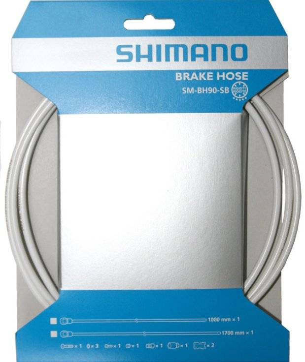 Гидролиния SHIMANO BH90-SBW, 1000мм, обрезной, цвет белый, TL-BH61 ISMBH90SBW100