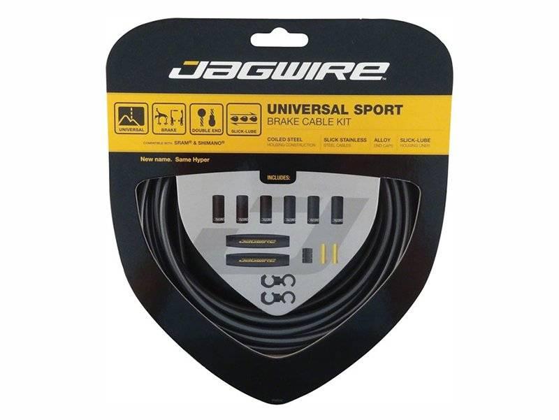 Тросы с оболочками для тормозов JAGWIRE UCK400, комплект Hyper Universal Brake Kit, длинные, черные