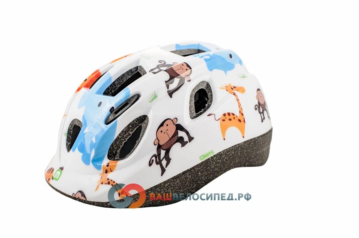 Велошлем MIGHTY JUNIOR INMOLD ZOO детский/подростковый (48-54см) белый 5-731880, фото 1