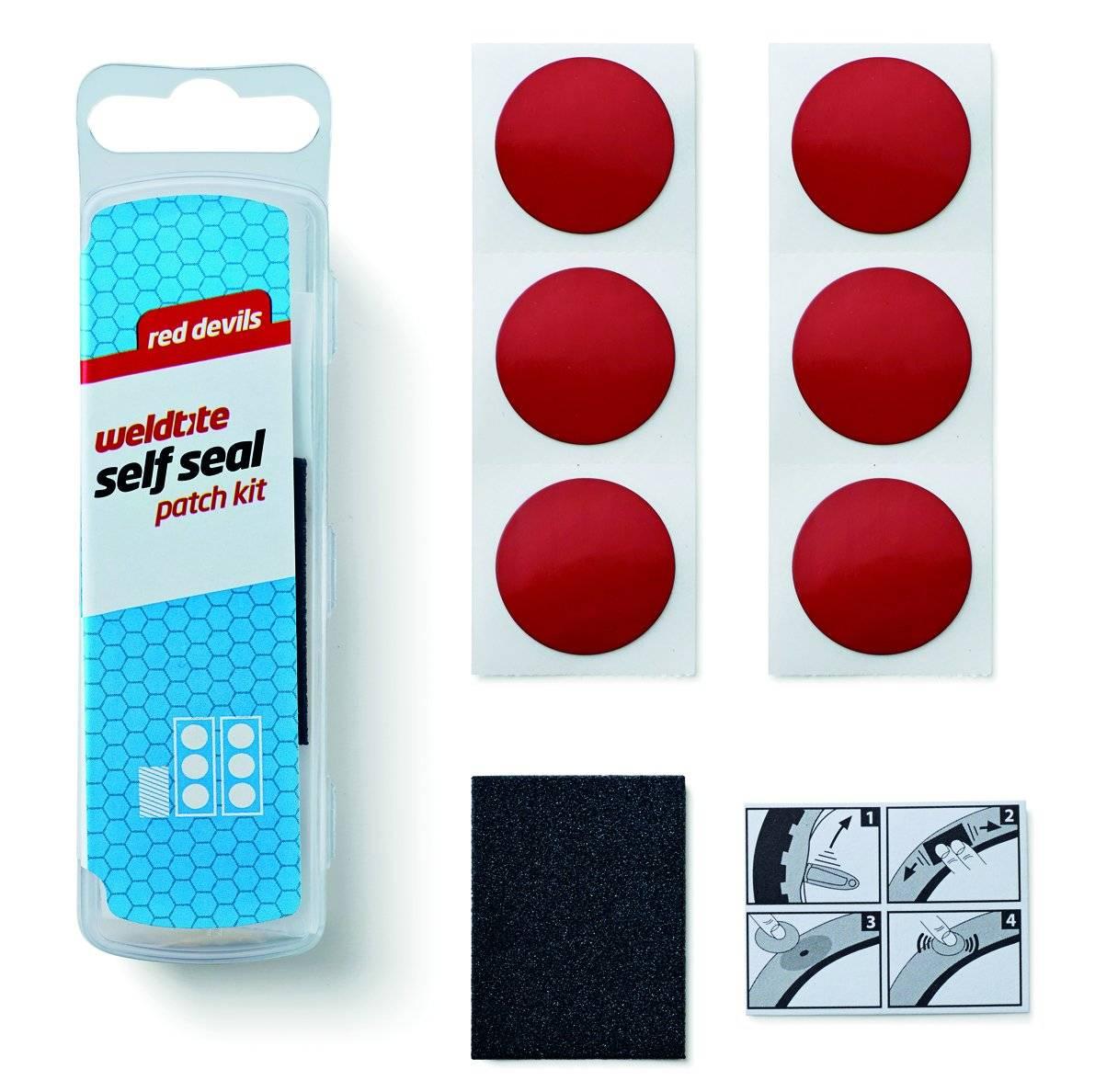 Аптечка RED DEVILS WELDTITE, 6 круглых суперзаплаток-самоклеек, шкурка, инд. уп, 7-01036