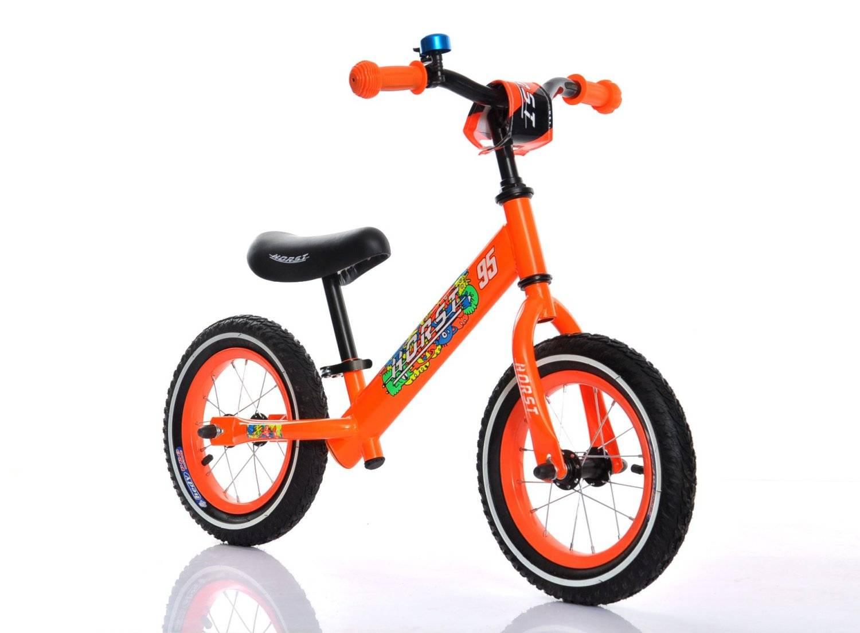 """Беговел HORST95, стальная рама, колеса 12"""" с камерами, звонок на руле, оранжевый, 00-170675, фото 1"""