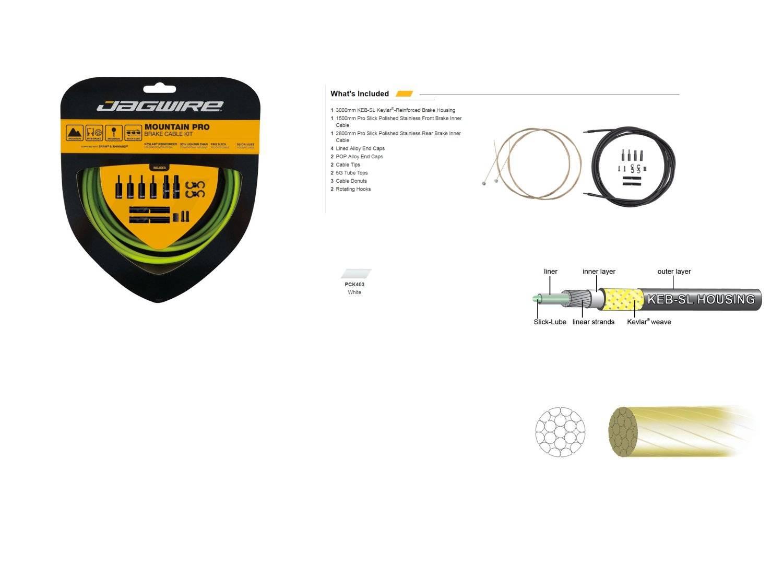 Комплект тормозных тросов JAGWIRE Mountain Pro Brake Kit с рубашкой, заглушками, белый, PCK403