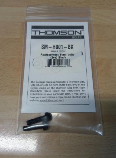 Болты для выноса Thomson Replacement Stem Bolt Kit, черный, SM-H001-BK