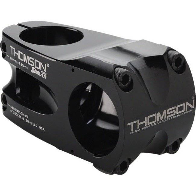 Вынос велосипедный Thomson Elite X4, 1-1/8, 130x10°x31.8, черный, SM-E142-BK болты для выноса thomson replacement stem bolt kit черный sm h001 bk