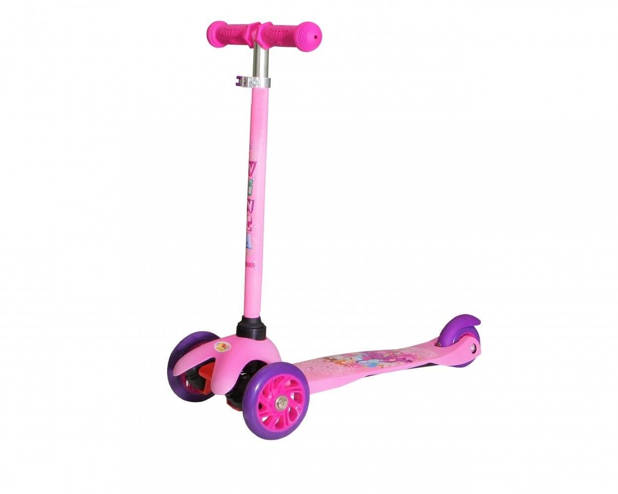 Самокат Vinca Sport, регулируемый детский, материал руля и стойки руля -Al, трёхколёсный, VSP 9 PRINCESS KATE