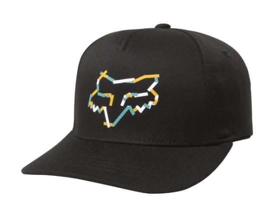 Бейсболка подростковая Fox Youth Heretic Flexfit, черный, 21017-001-OS