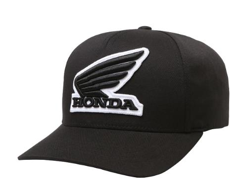 Бейсболка подростковая Fox Youth Honda Flexfit, черный, 21489-001-OS