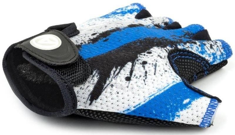 Велоперчатки подростковые AUTHOR X6, сине-белые