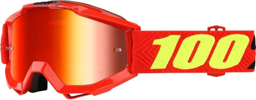 Веломаски подростковые 100% Accuri JR Saarinen / Mirror Red Lens, 50310-203-02