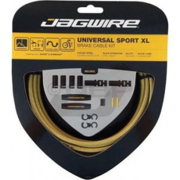 Тросы с оболочками для тормозов JAGWIRE UCK804, комплект, длинные, цвет золотой