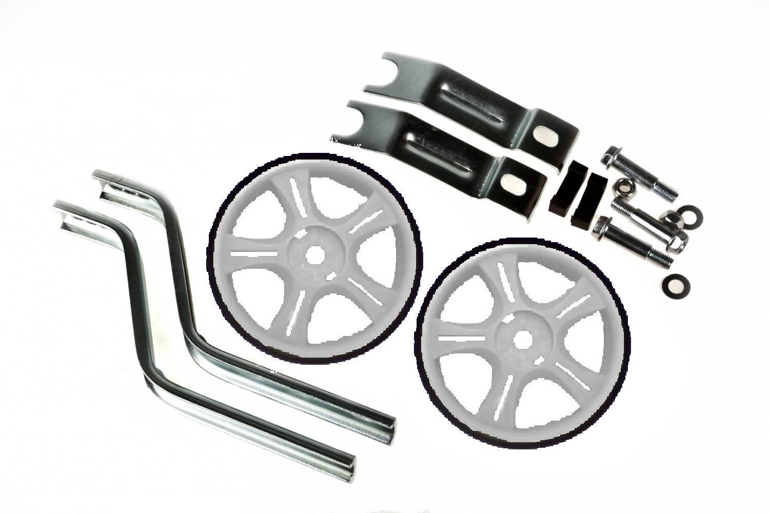 Колеса детские велосипедные, Vinca HRS 12-20 white, стойки сталь на 12-20, колесо пластик, белые.