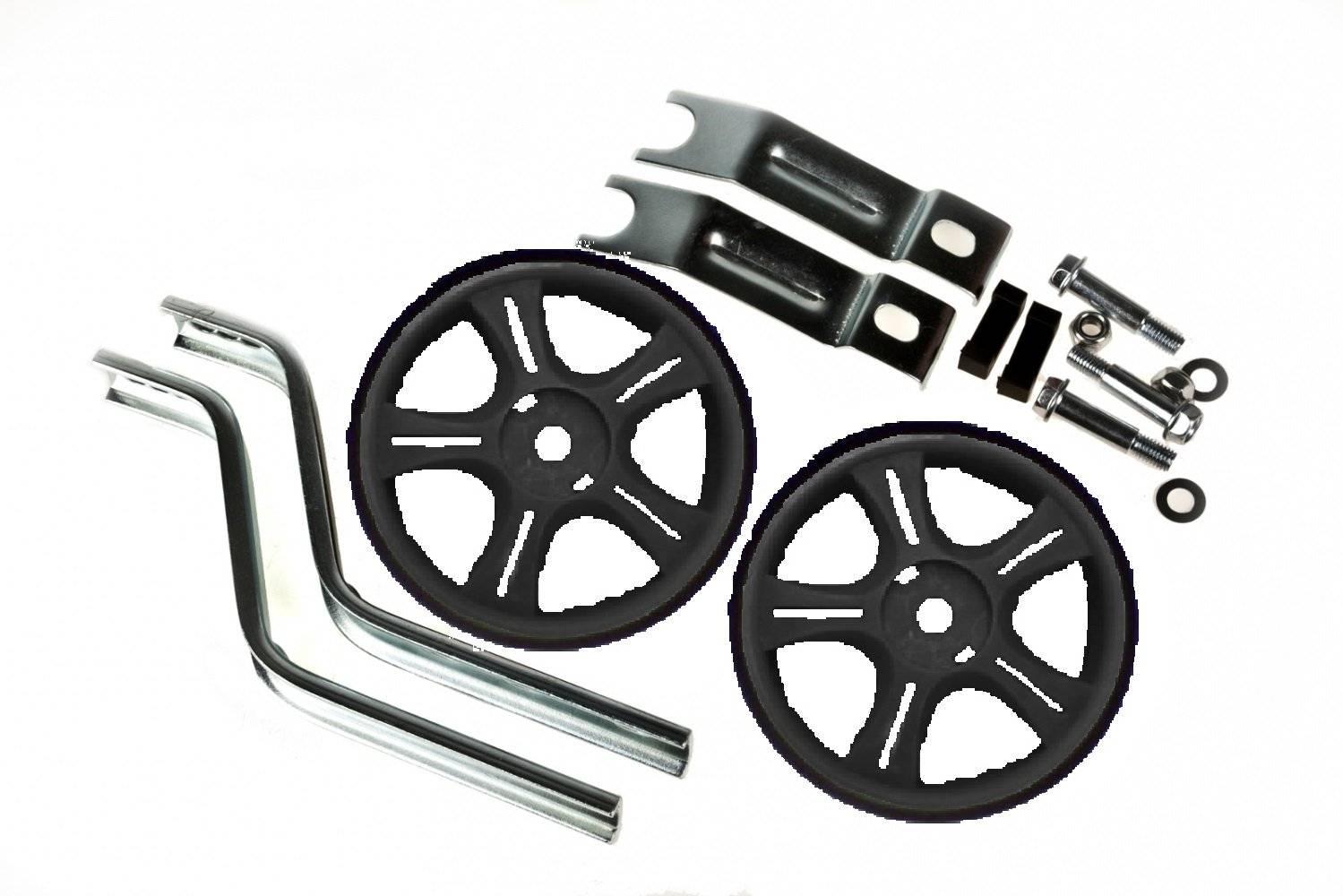 Колеса детские велосипедные, Vinca HRS 12-20 black, стойки сталь на 12-20, пара, пластик, черные.