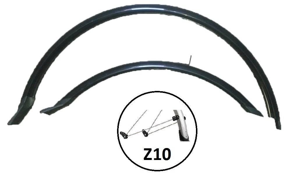 Крылья велосипедные комплект, Vinca HN 12-2 (28') black, 28, ширина 50мм, удлиненные, черные.