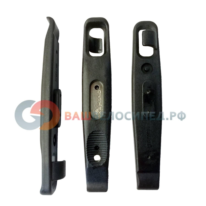 Монтажки BIKE HAND YC-305D, пластмассовые, со стальной сердцевиной, 3 штуки