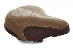 Фото - Седло комфортное для велосипеда, Vinca Sport VS 9032 Royal Lady brown,260х230мм, коричневое,Vintage. клаксон велосипедный vinca sport металлический vintage с коричневой грушей hr 278 brown