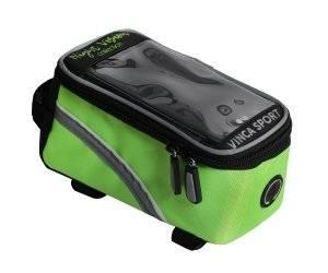 Сумка для велосипеда, Vinca Sport FB 07-2 L night vision, 195х100х100мм, отделение для телефона.