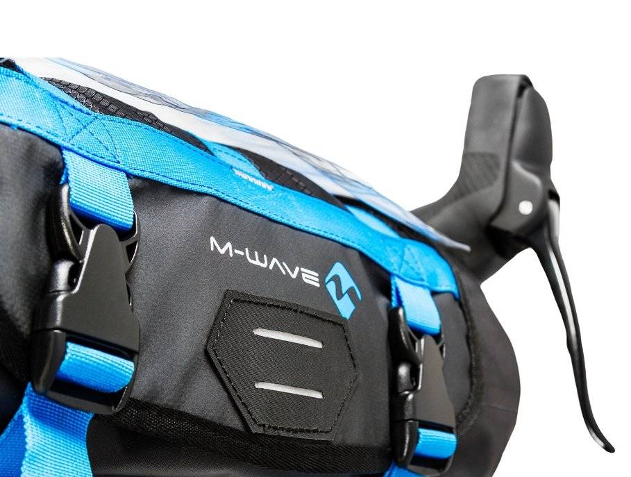 Велосумка M-WAVE на руль, походная, 59х23 см, объемом 10 литров, влагозащищенная, черная, 5-122631, фото 4