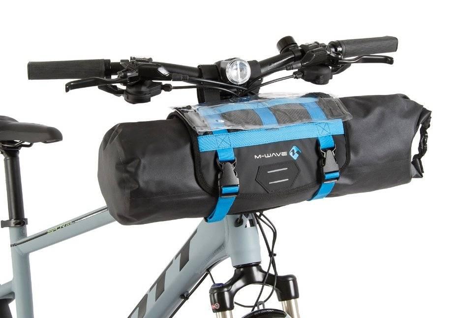 Велосумка M-WAVE на руль, походная, 59х23 см, объемом 10 литров, влагозащищенная, черная, 5-122631, фото 3