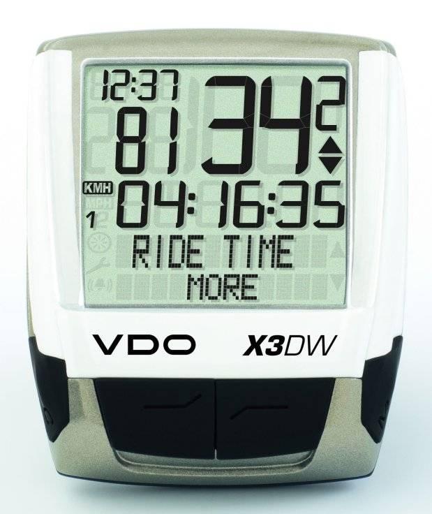 Велокомпьютер VDO Х3-DW-CAD, 23 функции, беспроводной, белый, 4-7114