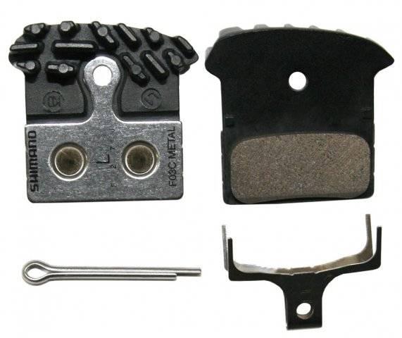 Тормозные колодки SHIMANO для дискового тормоза F03C, металлические, с радиатором, пара Y8J79802A