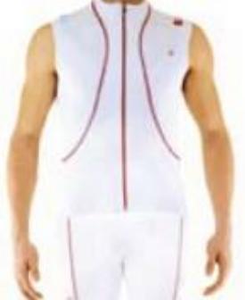 Велобезрукавка Biemme Pure Windprotection, белый/красный, А32С1032М, 2018