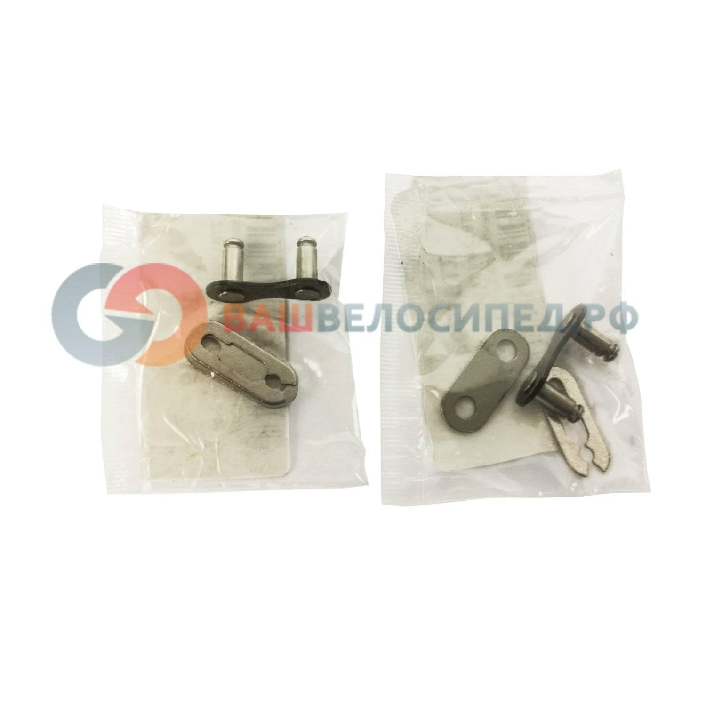 Соединительное звено цепи TAYA, 1 скорость, 1/2x1/8, чёрно/серебристый, spring clip connector