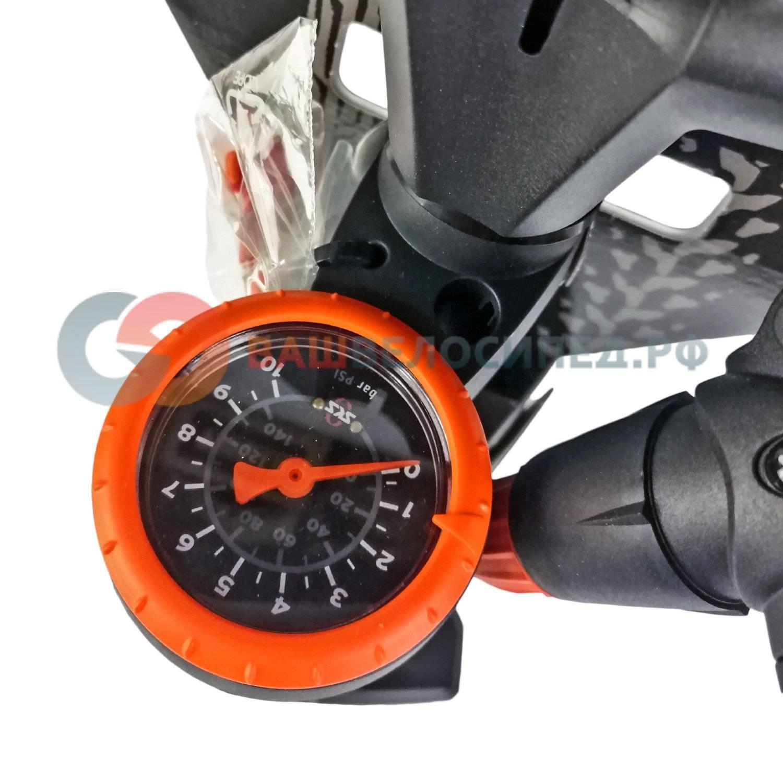 Насос SKS-10376 Airworx 10.0 напольный алюминевый с манометром серебристый, фото 4