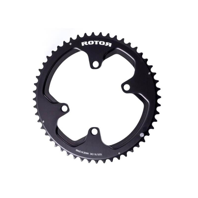 Звезда передняя Rotor Chainring BCD110X4 Shimano Outer Black 52t to 36, C01-516-09010-0