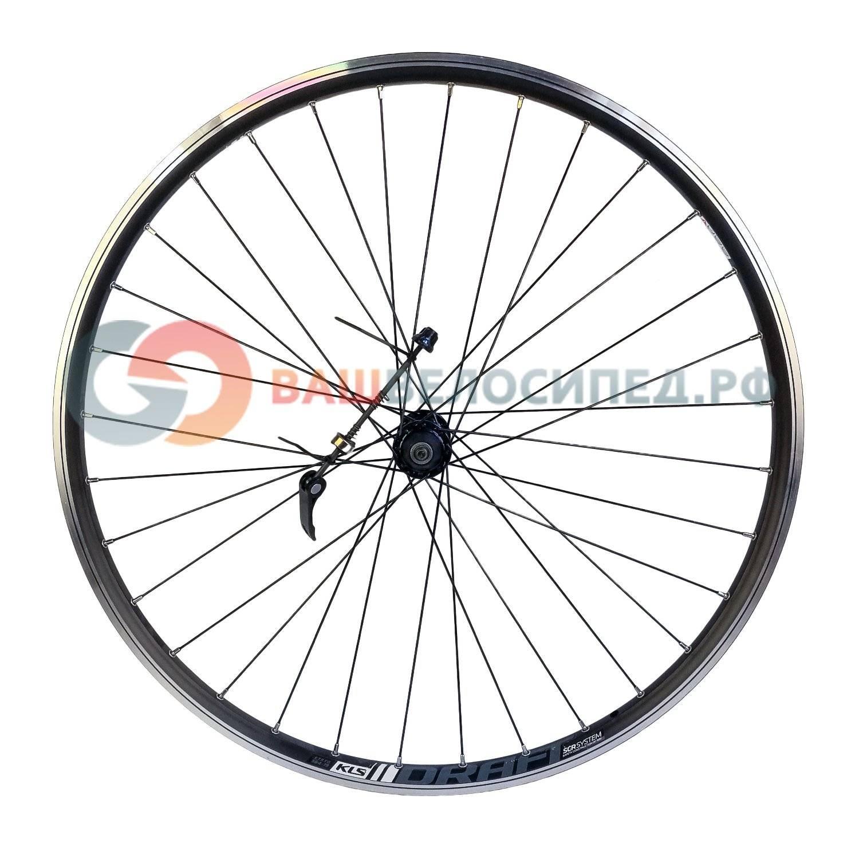 Колесо велосипедное переднее KELLY'S KLS DRAFT, 27.5, двойной обод 32Н, с эксцентриком, черное