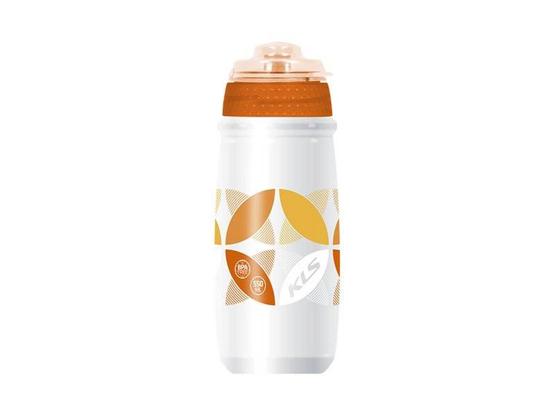 Фляга KELLYS ATACAMA, 0.65л, белый/оранжевый, с крышкой