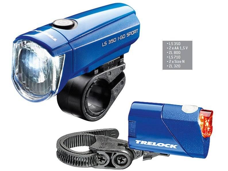 Комплект фонарей TRELOCK, LS 350 I-GO® SPORT / LS 710 REEGO KOMBISET, синий