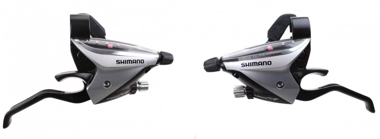 Тормозная ручка/шифтер Shimano Acera EF65, комплект, 3x7 скорости, трос+оплетка, ESTEF65P7A3S