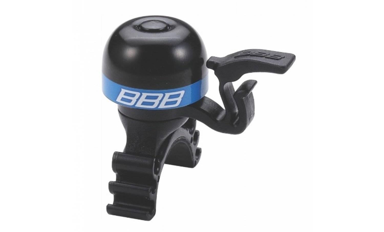 Звонок велосипедный BBB MiniFit, черный/синий, BBB-16