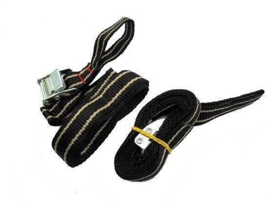 Стропы для дополнительного крепления с пряжками для всех багажников на заднюю дверь и на фаркоп, 397