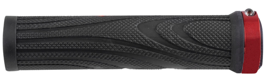 Грипсы M-WAVE с алюминиевым фиксатором 130 мм, красные, 410481, фото 1