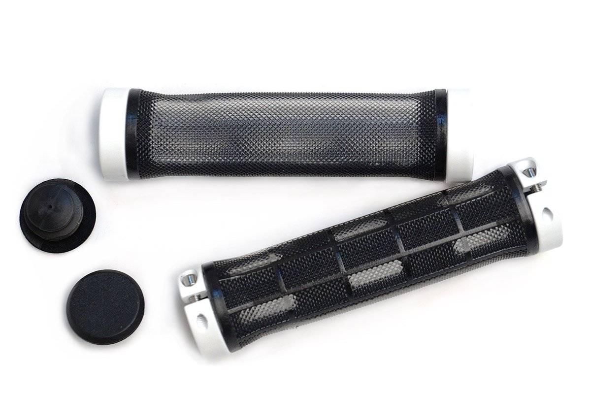 Грипсы MTB 130мм, с 2 грипстопами, под шестигранник, черные, HL-G309 black