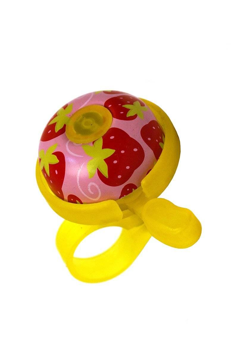 Звонок велосипедный JOY KIE 31CD-01 алюминий - пластик база, диаметр 40мм, желтая база
