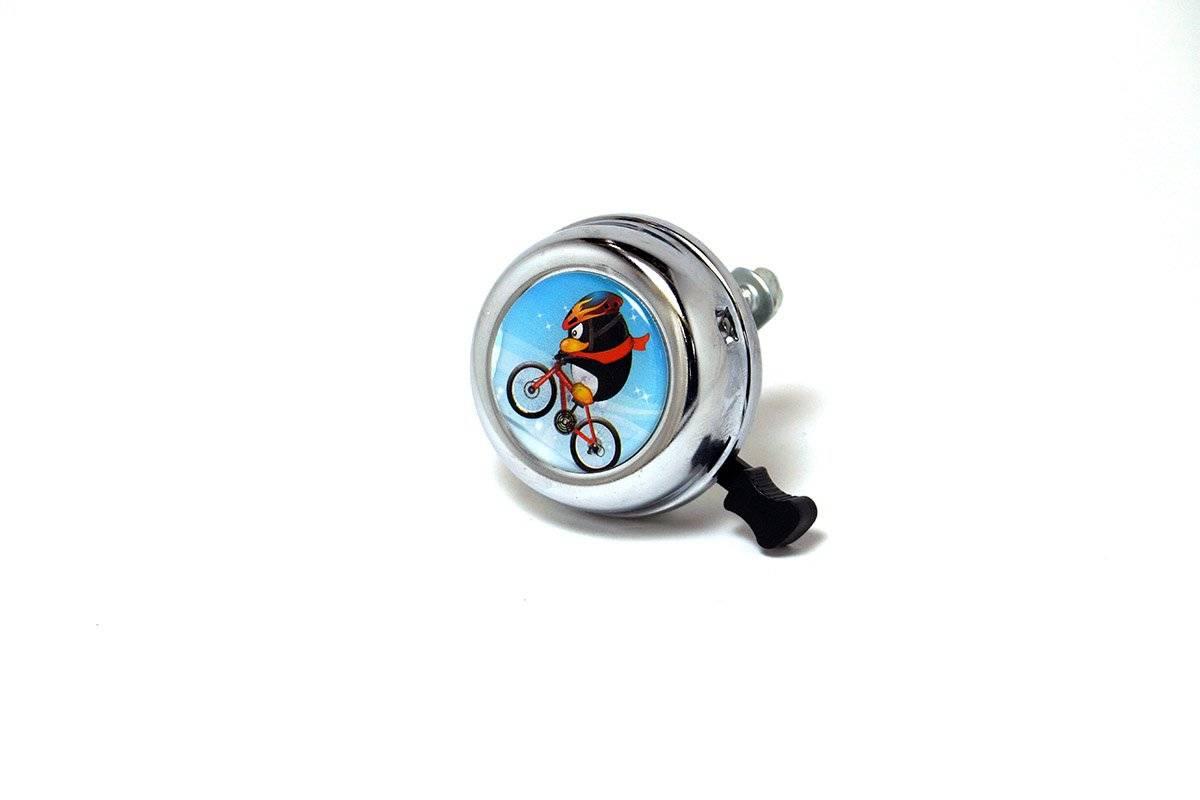 Звонок велосипедный JOY KIE 54BF-09 стальной, стандартный, пингвин
