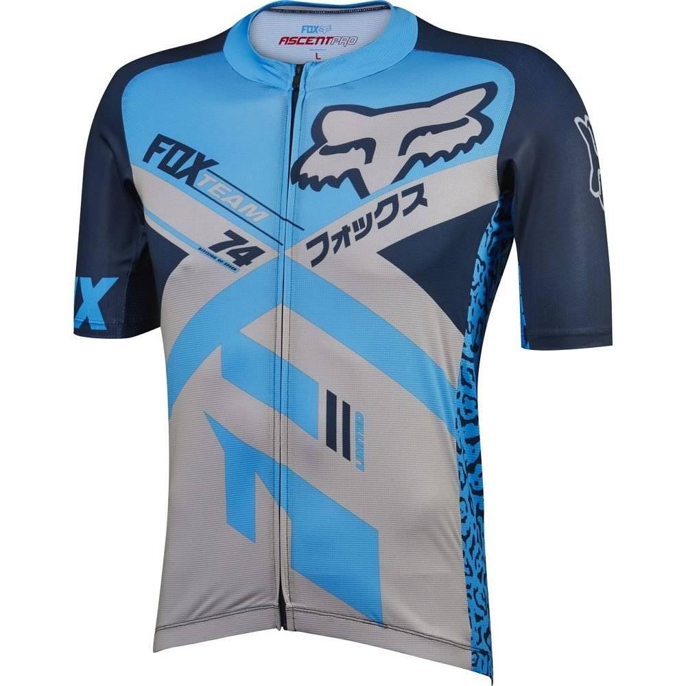 Велофутболка Fox Ascent Pro SS Jersey, синяя 2016, фото 1