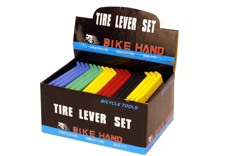 Монтажки пластиковые BikeHand YC-311-Box, 30х3 шт. в комплекте, цветные, YC-311-Box