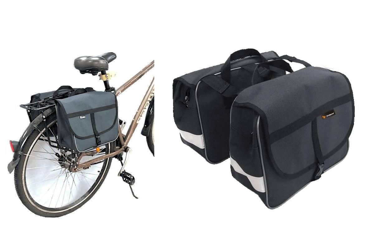 Велосумка TRIX на багажник, серый, вр094.023.1.1
