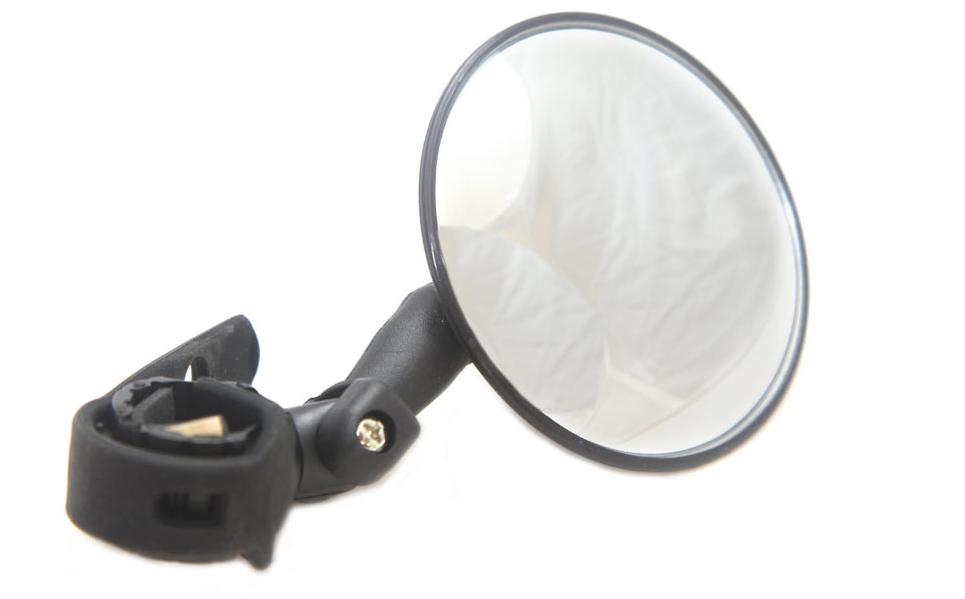 Зеркало велосипедное, панорамное, диаметр 75мм, крепление на руль/грипсу, DX-2002BU
