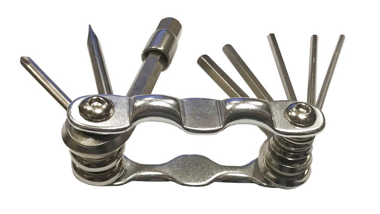Мультитул набор универсальный, мини, складной, серебристый, 00-190607, фото 1