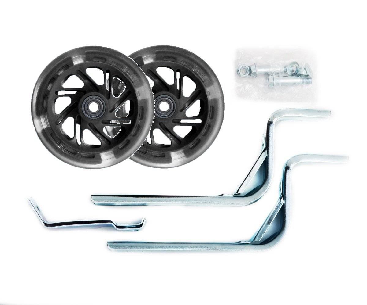 Колеса Vinca Sport, приставные, пара, усиленные стойки - сталь, 12-20, промподшипник ABEC7, подсветка, HRS 03 black
