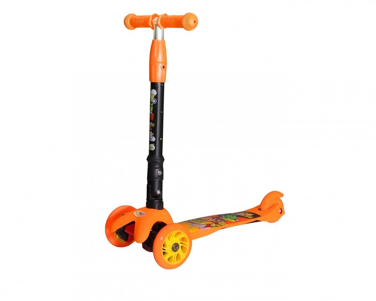 Самокат Vinca Sport, детский, складной,трёхколёсный, алюминий, подшипник ABEC 7, VSP 9A orange Skater