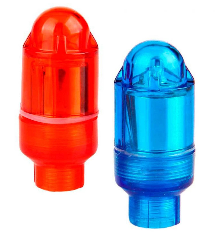 Колпачки на ниппель JING YI, светодиодные, красный+синий, 2 штуки, JY-505 A