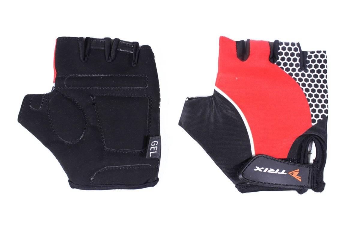 Велоперчатки TRIX LCL-K-65108-RED, подростковые, красный