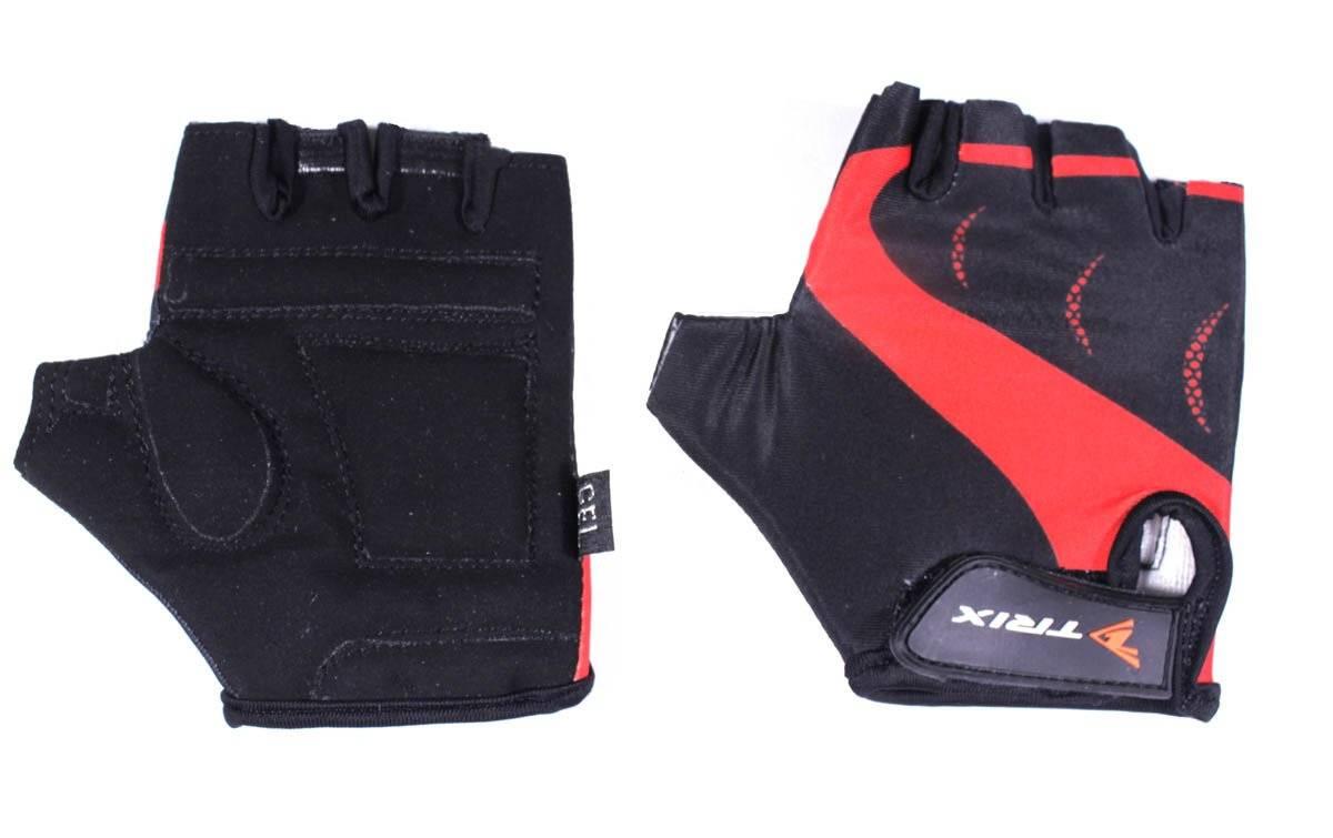 Велоперчатки TRIX LCL-K-65109-RED, подростковые, красный